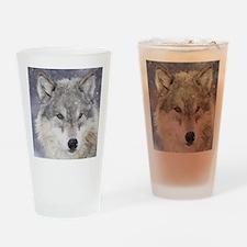 x10  Wolf Drinking Glass