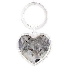 x10  Wolf Heart Keychain