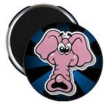 "Pink Elephant Cartoon 2.25"" Magnet (10 pack)"