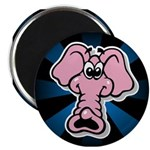 Pink Elephant Cartoon Magnet