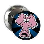"""Pink Elephant Cartoon 2.25"""" Button (10 pack)"""