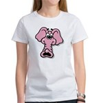 Pink Elephant Cartoon Women's T-Shirt