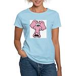 Pink Elephant Cartoon Women's Light T-Shirt