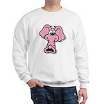 Pink Elephant Cartoon Sweatshirt