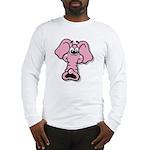 Pink Elephant Cartoon Long Sleeve T-Shirt