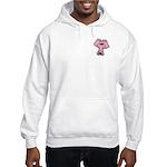 Pink Elephant Cartoon Hooded Sweatshirt