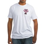 Pink Elephant Cartoon Fitted T-Shirt