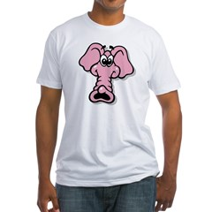Pink Elephant Cartoon Shirt