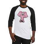Pink Elephant Cartoon Baseball Jersey