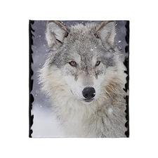 b  Wolf Throw Blanket