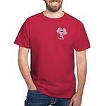 Pink Elephant Cartoon Dark T-Shirt