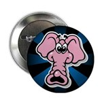 Pink Elephant Cartoon Button