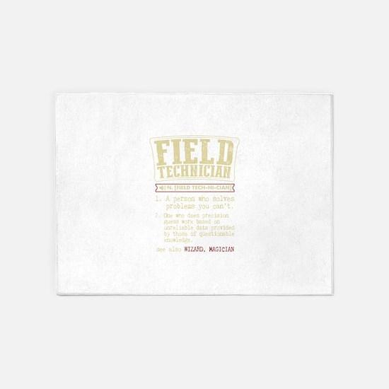 Field Technician Dictionary Term T- 5'x7'Area Rug