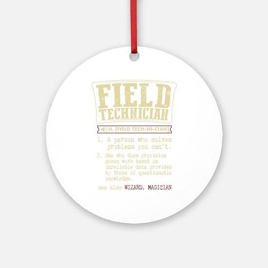 Field Technician Dictionary Term T- Round Ornament