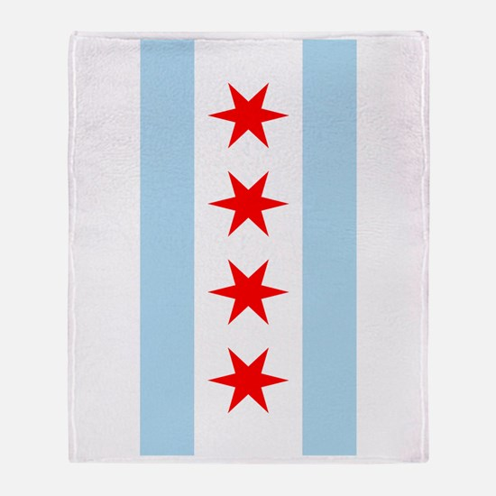 Chicago Flag iPad Case Throw Blanket