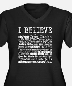 I believe -  Women's Plus Size Dark V-Neck T-Shirt