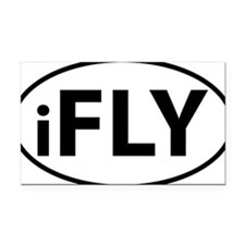 iFLY Rectangle Car Magnet