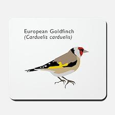 european goldfinch Mousepad