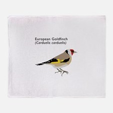 european goldfinch Throw Blanket