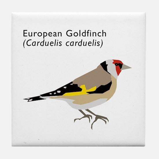 european goldfinch Tile Coaster