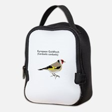 european goldfinch Neoprene Lunch Bag