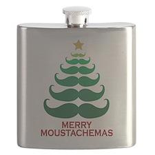 Moustachemas Christmas Tree Flask