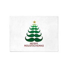 Moustachemas Christmas Tree 5'x7'Area Rug