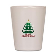 Moustachemas Christmas Tree Shot Glass
