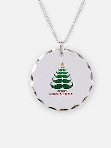 Moustachemas Christmas Tree Necklace