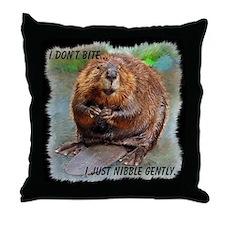 Beaver 2 bb cp Throw Pillow