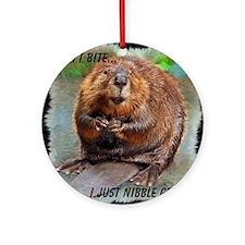 Beaver 2 bb cp Round Ornament