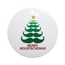 Moustachemas Christmas Tree Ornament (Round)