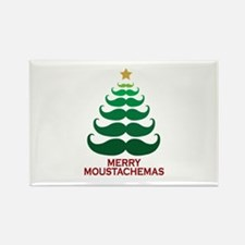 Moustachemas Christmas Tree Rectangle Magnet