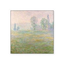 "Meadows in Giverny,  by Mon Square Sticker 3"" x 3"""