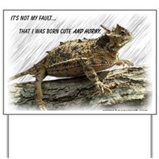 Horny Toad Pic cp Yard Sign