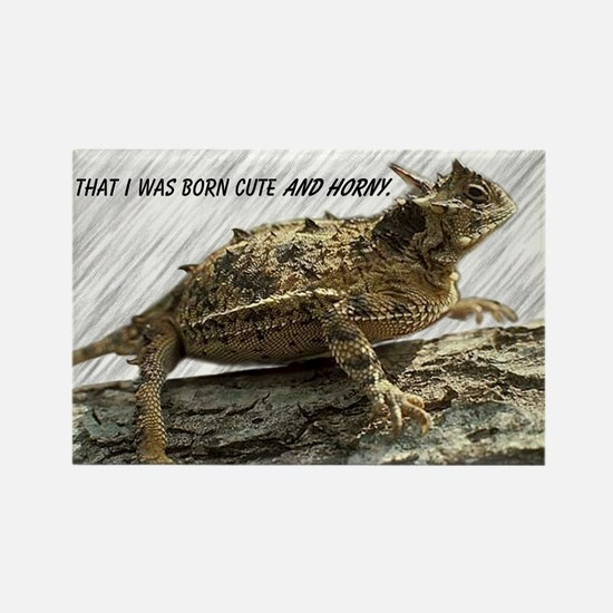 Horny Toad Pic cp Rectangle Magnet