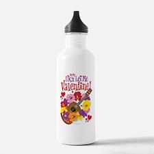 Ukulele Valentine Water Bottle