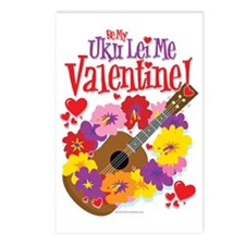 Ukulele Valentine Postcards (Package of 8)
