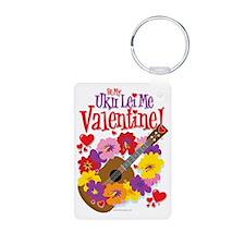 Ukulele Valentine Keychains