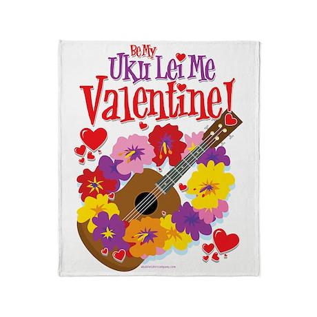Ukulele Valentine Throw Blanket
