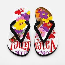 Ukulele Valentine Flip Flops
