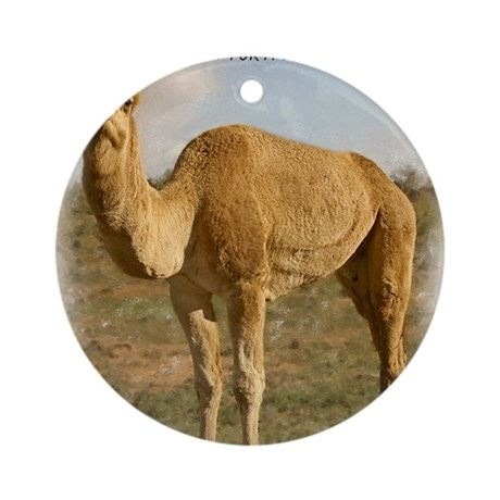 camel 3 cp Round Ornament