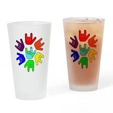 I Love You Earth Circle Rainbow.gif Drinking Glass