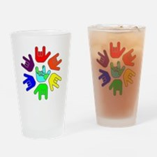I Love You Earth Circle Rainbow.gif Drinking Glass