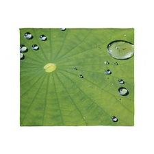Dew on a Lilypad Throw Blanket