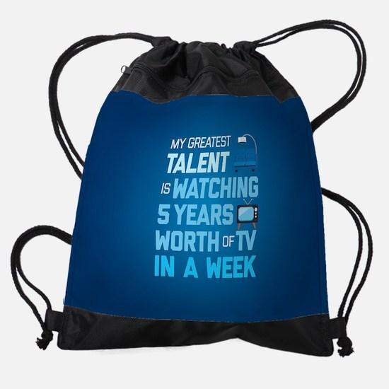 Greatest Talent Emoji Drawstring Bag