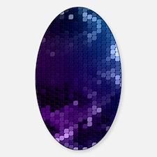 Blue Purple Mosaic Sticker (Oval)