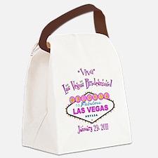 viva bridesmaid button Canvas Lunch Bag