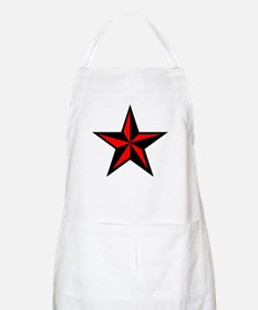 Red Nauticle Star Punk Rock BBQ Apron