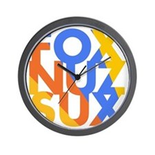 Fox_Nuz_Sux_4 Wall Clock